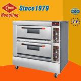 Honglingの二重デッキ4の皿の電気デッキのパン屋オーブンのコマーシャル