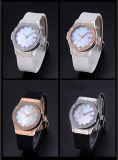 ODM van de Spiegel van de Saffier van de Diamant van de luxe Waterdicht Horloge