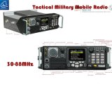 Radio mobile bassa di VHF, radio mobile tattica di Manpack in 30-88MHz/50W