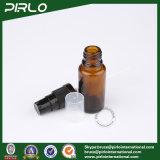 bernsteinfarbige Form-Glasspray-Flaschen des Gefäß-15ml mit schwarzem Lotion-Sprüher