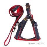 Специализированная проводка любимчика руководства собаки джинсыов Nylon с поводком
