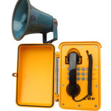Teléfono impermeable del teléfono de la prisión del teléfono de dial auto para el sistema de direcciones público Knsp-08L