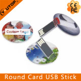 Custom Slim Round Card Pen Drive USB Stick (YT-3108)