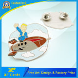 Customized Zinc Alloy 3D Metal Button Badge com latão antigo chapeado (XF-BG17)