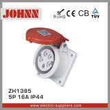 Soquete montado de IP44 5p 16A painel vermelho para industrial