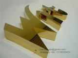 金のステンレス鋼の磨かれた文字の印