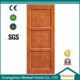 Puerta interior de Guangzhou con madera y vidrio para el hotel y las casas