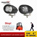 """indicatore luminoso ovale del lavoro del carrello elevatore LED di figura di alto potere 4 """" 10W"""