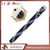 Reloj de señoras impermeable tejido aduana del cuarzo