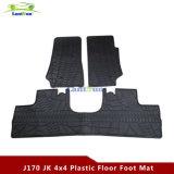 J170 stellte schwarzen Gummifuss-Fußboden-Matten-Installationssatz für JeepWrangler Jk 2007+ 4 Tür ein