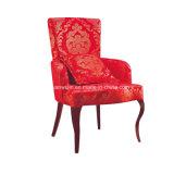 Armrest (JY-F01)が付いている木製の木質のある仕上げの鉄のホテルの寝室の椅子