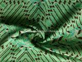 Tela verde de la impresión del triángulo para la ropa de deportes (HD1401112)