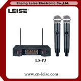 Microfono a doppio canale della radio di frequenza ultraelevata di alta qualità Ls-P3