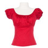 Fashion Top Design Short Blouse pour Femme Taille Maxi
