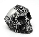 Helm Ghost Skull Anel macho Stainless Steel Matte Black