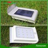 Lampada da parete esterna solare del percorso dell'indicatore luminoso di via dell'indicatore luminoso 16 LED della lampada del LED del sensore di induzione impermeabile solare del corpo