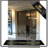 Puerta de pantalla de aluminio decorativa cortada laser interior