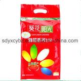 Saco de plástico lateral do reforço para grões/alimento do arroz/animal de estimação com furo do punho