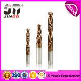 Alta precisión 2 dígitos binarios de taladro del carburo de tungsteno de la flauta