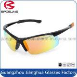 Os óculos de sol Running de ciclagem do esporte novo dos homens personalizam óculos de sol polarizados UV do estilo da forma da recolocação da lente