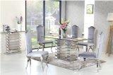 緩和されたガラスが付いているSj930居間および食堂の家具のSerieのステンレス鋼フレーム