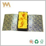 Documento del regalo di struttura di qualità di Hight con il contenitore di vino del nastro con chiusura magnetica o per monili