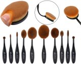 Customedのパッキングが付いている10PCS動物の毛の化粧品の構成のブラシ