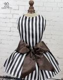 L'animal familier de robe de crabot de Legant vêtx l'habillement noir de chat de chemises rayées