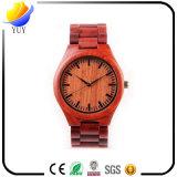 Reloj de madera del grado de la protección del medio ambiente de la sandalia roja superior del régimen
