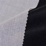 ворота рубашки хлопко-бумажная ткани 92GSM вспомогательное оборудование одежды плавкого сплавляя Interlining