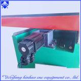 Prensa de sacador del CNC de la plataforma de la placa de acero del metal de hoja con la plataforma que introduce