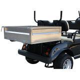 전기 골프 차 또는 손수레 또는 2 륜 마차 의 관광 차, 화물 상자를 가진 실용 차량