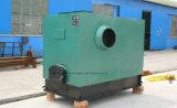 Calefator na casa das aves domésticas com construção automática do equipamento e da vertente