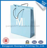 Qualitäts-weiße Packpapier-Einkaufstasche mit Papier verdrehtem Griff