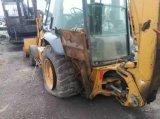 Caricatore usato dell'escavatore a cucchiaia rovescia di caso 580L, caricatore usato del manzo di pattino