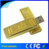 8g disco de destello del acero inoxidable del conductor del USB de la barra de oro del USB 2.0