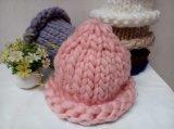 Beanie Hand Knitted de chapeau de chapeau de laines de câble de belles dames coréennes