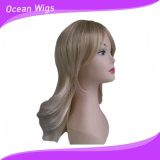 Perruque blonde de synthétique de couleur
