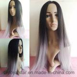 Nouvelle perruque droite normale populaire de synthétique de cheveux de Remy de Vierge