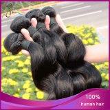極度のブラジルの織り方の緩い波のバージンのRemyの人間の毛髪のよこ糸