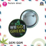 SGS Factory 43mm Tin Button Badge with Iron Bottom