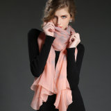 pink Butterfly Print Scarf Sp21-3 실제적인 실크 Crepe 조젯 스카프 Ms