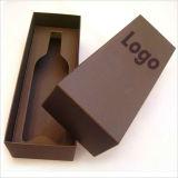 Boîte de papier de carton de cadeau fait sur commande de vin
