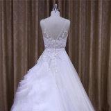 Линия кристалл шнурка Organza отбортовывая горячее платье венчания сбывания