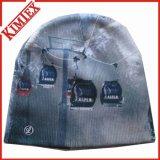 Chapeau tricoté par impression de sublimation de Beanie de Cuffless
