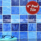 mattonelle di mosaico blu Mixed della piscina della porcellana dell'onda 4 '' x4 '' (BCP003)