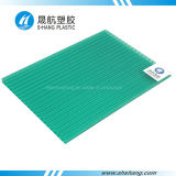 PC Gemellare-Wall verde Sunshade Sheet di Polycarbonate con Coating UV