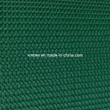 PVC vert-foncé/bandes de conveyeur rugueuses de pente configuration de noir premières