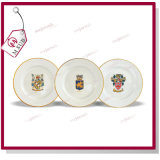 Дешевое White Ceramic Round Sublimation Plates с Double Gold Rims