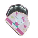 茶蝶番を付けられたふたによって蝶番を付けられる錫ボックスが付いている真新しい錫ボックス